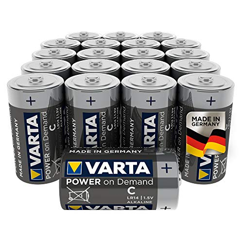 VARTA Power on Demand C Baby Batterien - 20er Pack Vorratspack - für den mobilen Endkonsumenten - z.B. für Computerzubehör, Smart Home Geräten oder Taschenlampen – MADE IN GERMANY