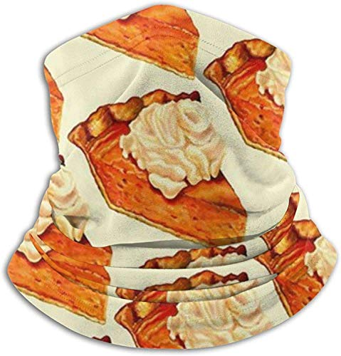 Lawenp Face Cover Bandana,Pumpkin Pie Neck Gaiter,Washable Magic Scarf balaclava For Men And Women
