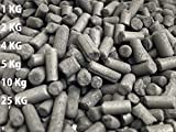 Schahba Pellet de carbón Activado 3mm 1,2,4,5,10,25 Kg (4 Kg)