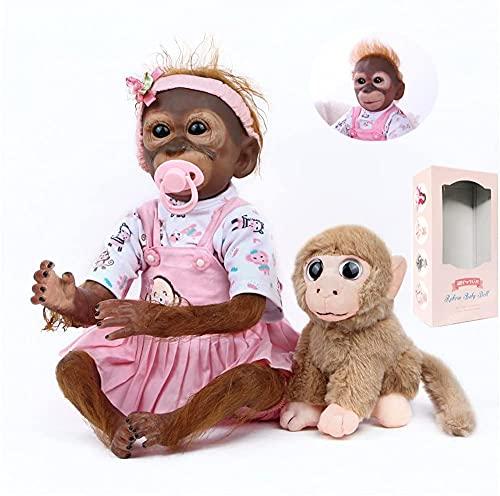 ZIYIUI Reborn Monkey 52cm 21 inch Reborn Monkey Baby Doll Art Newborn Reborn Doll Toy Children's Holiday Gifts