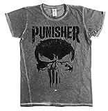 Photo de Officiellement sous Licence Marvel's The Punisher Big Skull Urban Coupe Slim Hommes T-Shirt (Gris), X-Large