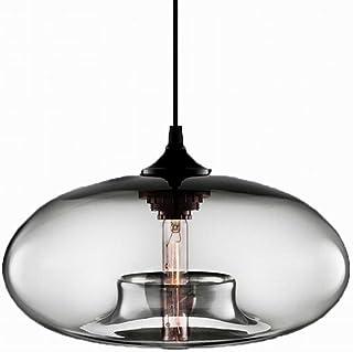 Loft Vintage Modern Clear Color Glass Ball Pendant Lights Fixtures Kitchen Restaurant Dining Room Living Room Cafe Shop Ba...