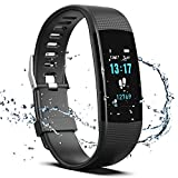 Fitness Tracker HR, Y1 Activity Tracker Watch with Heart Rate Monitor, Pedometer IP67 Waterproof Sleep Monitor Step Counter for Android & iPhone (Black-Special Edition) (Misc.)