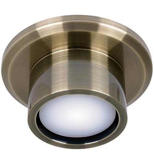 Beleuchtung Airfusion CNC für Deckenventilator von Lucci air, Messing antik, inkl. LED-Leuchtmittel GX53, 11 W