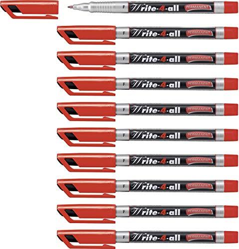 Marcatore - STABILO Write-4-all - Tratto Fine (0,4 mm) - Confezione da 10 - Rosso