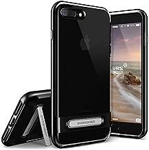 VRS Design [Crystal Bumper Series] Clear Bumper Case Compatible with Apple iPhone 7 Plus / 8 Plus - Jet Black