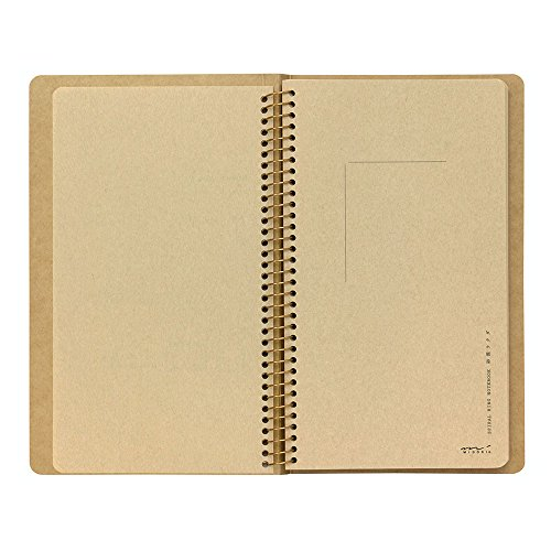1 X Midori-spiral ring notebook camel blank notebook Photo #4