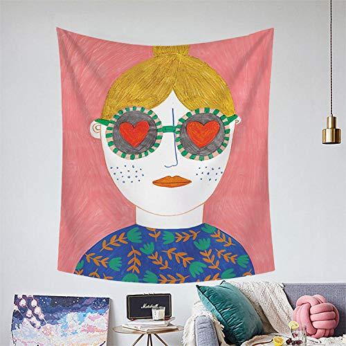 Bohemia Colgante De Pared Mantas para Sofa Tapiz Verde Estampado con Estampado De Flamencos Decoración De Pared para Dormitorio Sala De Estar Toalla De Playa 150X130Cm