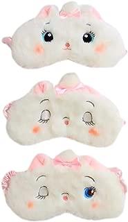 Fascigirl 3PCS Sleep Mask Eye Mask Cute Cartoon Soft Plush Sleeping Mask Sleep Eye Shade