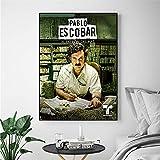 wtnhz Sin Marco Pablo Escobar Colombia Classic Wall Art Canvas Pittura Poster per decorazioni per la casa Poster e stampe immagini Decorative 60x80cm