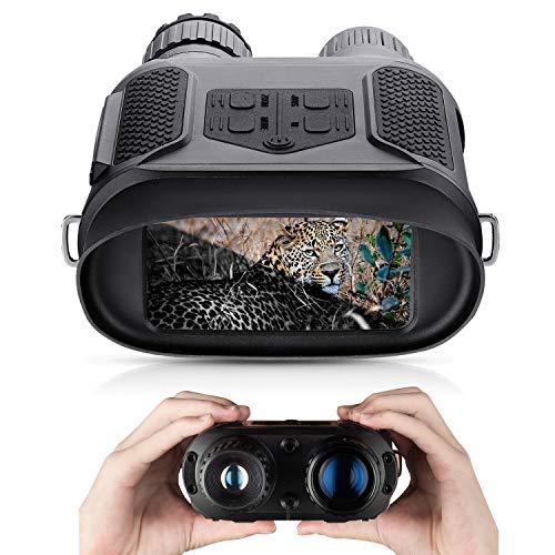 Binocolo Visione Notturna HD Digitale a Infraross Binoculare da Caccia 3,5-7 x 31 mm a infrarossi Spy Gear 850 nm IR - Per scattare foto e video