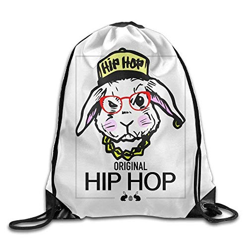 Etryrt Prämie Turnbeutel/Sportbeutel, Fashion Drawstring Backpack Original Hip Hop Easter Bunny Design Print Drawstring Backpack Rucksack Shoulder Bags Gym Bag