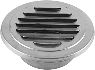 FTVOGUE Stainless Steel Wall Air Vent Round Flat Ducting Ventilation Outlet Cover