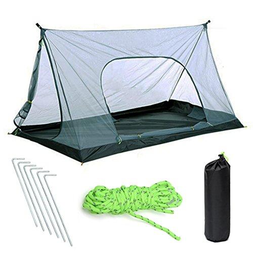 Slimerence Camping Leichtes Zelt, Mesh Camping Moskitonetz 1-2 Personen für Trekking, Camping, Outdoor, Festival mit Kleinem Packmaß, Einfacher Aufbau A-förmigen Outdoor-Zelt ohne Halterung