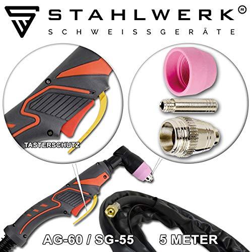 STAHLWERK Plasmabrenner AG-60 / SG-55 mit 5 Meter Schlauchpaket Plasmaschneider bis 70A Schweissgeräte Orginal Zubehör - 2