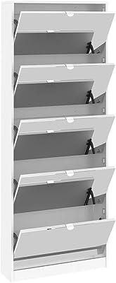Esidra, Scarpiera con Ante specchiate, 71x20x182cm