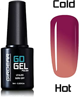 Girdear Chameleon Thermal Color Changing Gel Polish Soak Off Nail Art Manicure 5041