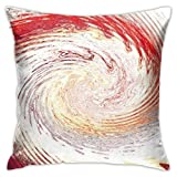 Yuanmeiju Mode Kissenbezug Dresden Plate Doodle Both Sides Throw Pillow Covers Cotton Home Decor Sofa Square Cushion Cover Pillow Case 18x18 inch