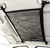 Kaskawise Car Ceiling Cargo Net Pocket, 31'x21' Adjustable Double-Layer Mesh SUV Roof Organizer Long Trip Storage Bag,Tent Putting Quilt Children's Toy Towel Sundries Interior Accessories