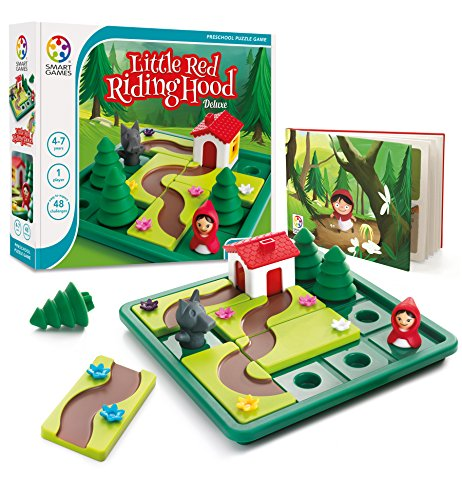 SmartGames Little Red Riding Hood Deluxe Skill-Building Board Game with Picture Book for Ages 4-7