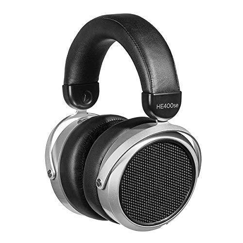 HIFIMAN HE400SE Stealth Magnets Version Over-Ear Open-Back Full-Size Planar Magnetic Wired Headphones for Audiophiles/Studio, Great-Sounding, Stereo, Easy to Drive, Comfortable, Sliver