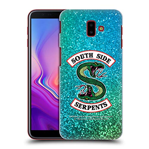 Head Case Designs Officially Licensed Riverdale Glitter Print Logo South Side Serpents Hard Back Case Compatible with Samsung Galaxy J6 Plus (2018)