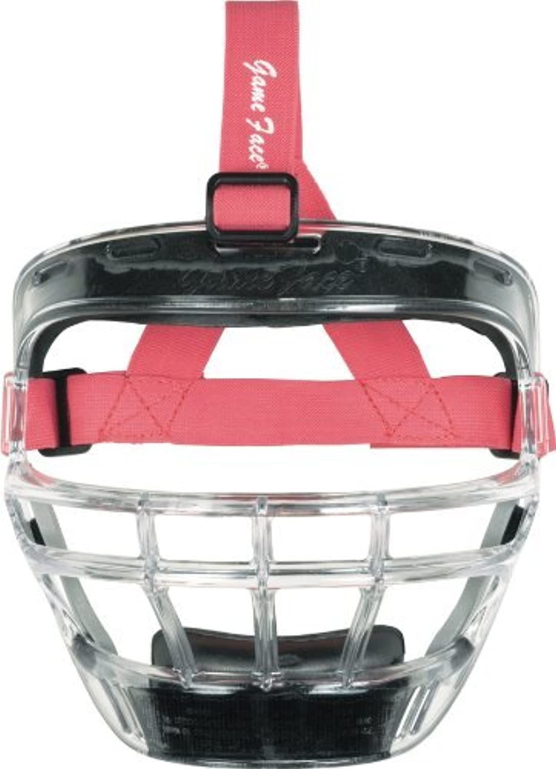 Markwort Game Face Sports Safety Mask (Clear with Pink Ponytail Harness, Large) by Markwort