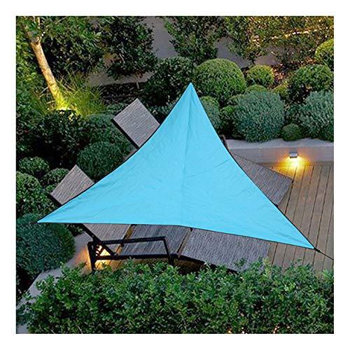 HotYou Sonnensegel Sonnenschutz Garten Balkon und Terrasse wetterbeständig Atmungsaktiv Schattenspender Dreieck rechtwinklig,Himmelblau,3 * 3 * 3 M