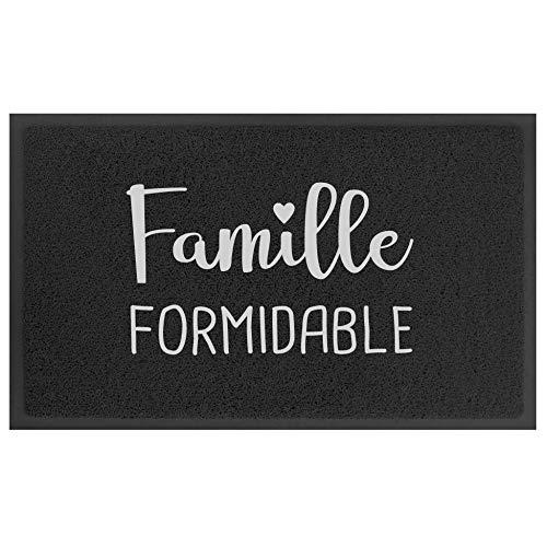 Tapis Rectangle 45 x 75 CM PVC Formidable Negro/Gris