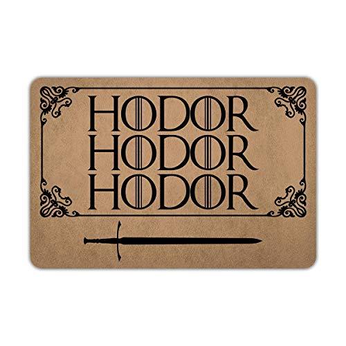 NA Entrance Doormat Door Mat Floor Mat Inside/Outside Rubber Mat Rug Home Decor (Hodor, 40x60cm)