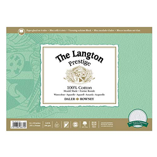 Daler-Rowney : Langton : Prestige Watercolour Block 10x14 NOT
