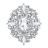 EVER FAITH Broches Alfileres para Mujer Cristal Austríaco Boda Banquete Vintage Estilo Ah...