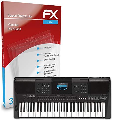 atFoliX Schutzfolie kompatibel mit Yamaha PSR-E453 Folie, ultraklare FX Displayschutzfolie (3X)