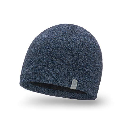 Winterhoed PaMaMi 17001 Warm Hoed Voor Mannen, Slouch Beanie, Grijs Gebreide Hoed voor Herfst/Winter, Zacht Materiaal