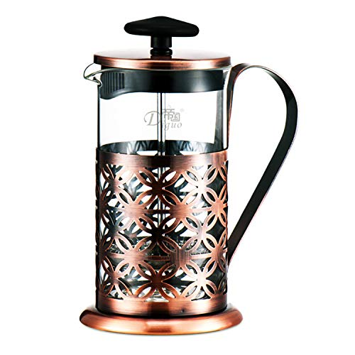 Caffettiere a Pistone Caffettiera Francese Coffee Press Omino Caffettiera Pressofiltro Macchina per Cappuccino Manuale Macchina per Caffè Francese a Stantuffo
