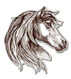 GT Graphics Beautiful Horse Mustang - 5' Vinyl Sticker - for Car Laptop I-Pad - Waterproof Decal