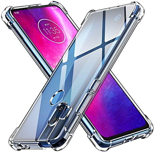 ivoler Klar Silikon Hülle für Motorola Moto One Hyper mit Stoßfest Schutzecken, Ultra Dünne Weiche Transparent Schutzhülle Flexible TPU Durchsichtige Handyhülle Kratzfest Hülle Cover