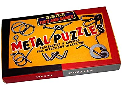 Retro Metal Puzzles Set - 6 puzzles in a box. Just like those puzzles we received in Christmas crackers.