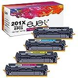 ejet Kompatibel Tonerkartusche als Ersatz für HP 201X CF400X 201A CF400A Color Laserjet Pro MFP M277dw Pro M252dw MFP M277n Pro M252n MFP M274n Drucker (Schwarz Cyan Magenta Gelb, 4er-Pack)