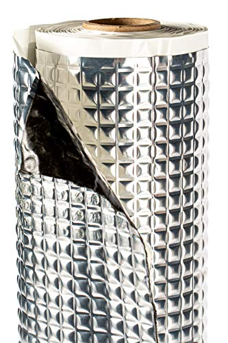 Alubutyl Matte 50x400cm Dämmmatte Selbstklebend Anti Dröhn Fahrzeugdämmung 2mm, Schalldämmung für Kfz, Lärmschutz Butylkautschuk