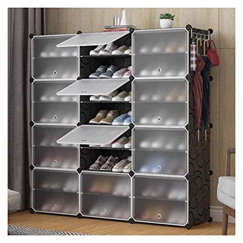 Scarpiera Scaffalature modulari dell'armadio della torre organzier della torre di stoccaggio della scarpa portatile, ripiani for scarpe for scarpe, stivali, pantofole Stoccaggio a scaffale