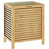 Casaria Wäschekorb Bambus 62l Wäschebox Natur Wäschebehälter Badezimmer Truhe Wäschetonne Wäschesammler Bad