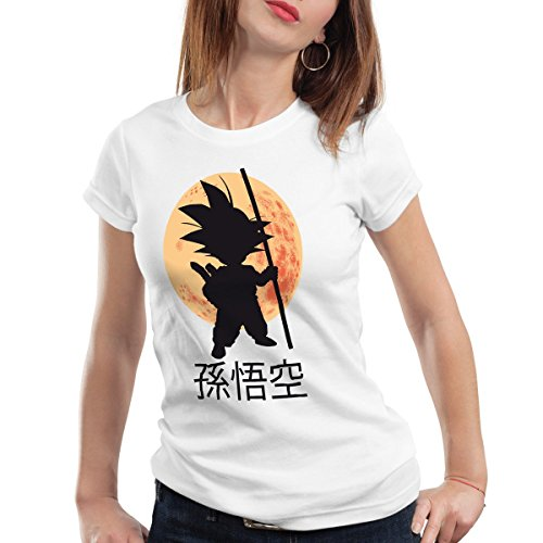 style3 Goku Moonlight Camiseta para Mujer T-Shirt