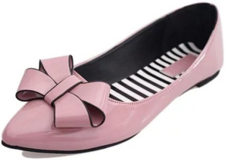 Huhuj Kou flat shoes, spring bow light Pointy shoes
