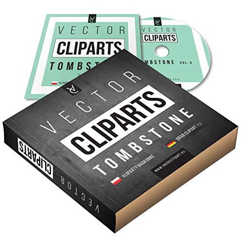 Grabstein-Cliparts Teil 4 BOX - Religiös - vektor cliparts - Plotter schneiden und drucken, professionell