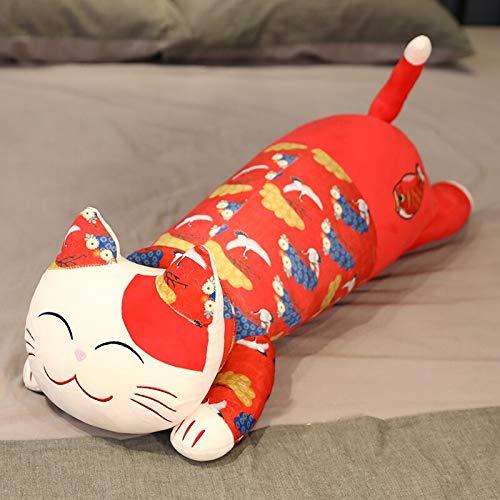 80-120cm Juguetes de Peluche Animal Mascota roja Gato Lindo Creativo Largo Suave Oficina Almuerzo Descanso Siesta Almohada para Dormir muñeca de Regalo Relleno para 120cm A
