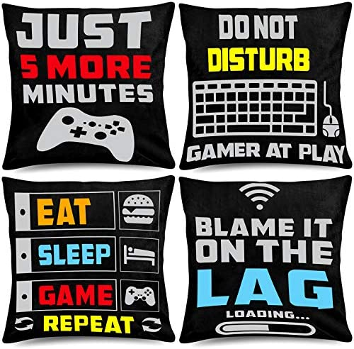 Whaline Video Game Throw Pillow 18 x 18 Inch Gamer Controller Pillow Cover Gaming Throw Cushion product image