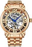 Stuhrling Original Skeleton Watches for Men - Mens Automatic Watch Self Winding Mens Dress Watch - Mens Winchester 44 Elite Watch Mechanical Watch for Men