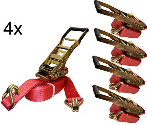 4 x spanriem spanbanden 10 m 5 t lange hendel ratel ERGO TÜV / GS 2-delig 5000 KG