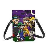 Super Mario - Bolso bandolera de piel para Halloween, impermeable, para mujeres y hombres, bolsa de almacenamiento portátil